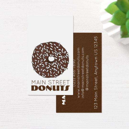 Chocolate Coconut Doughnut Doughnut Shop Doughnuts Business Card