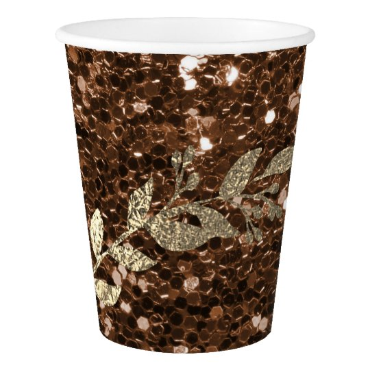 Chocolate Coffe Glitter Foxier Gold Girland Metal Paper