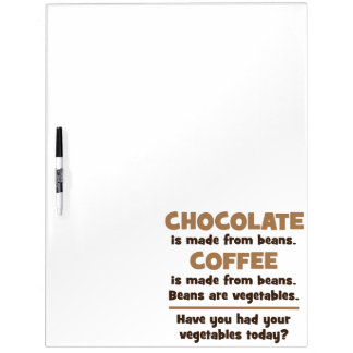 Chocolate, Coffee, Beans, Vegetables - Novelty Dry Erase Board