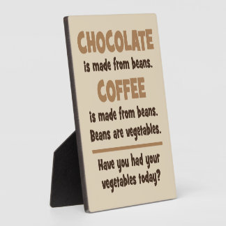 Chocolate, Coffee, Beans, Vegetables - Novelty Plaque