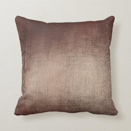 Chocolate Coffee Brown Abstract Blush Minimal Cushion