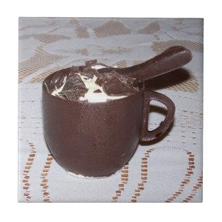Chocolate Coffee Cup Ice Cream Custom Name Tile