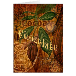Chocolate Collage Greeting Card