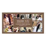 CHOCOLATE COLLAGE | WEDDING THANK YOU CARD PHOTO CARDS