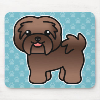 Chocolate Color Cartoon Havanese Mouse Mat