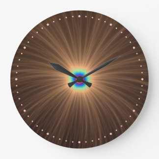 Chocolate Color Explosion Wall Clock