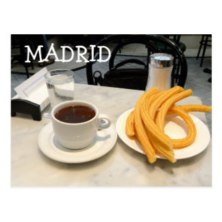 chocolate con churros postcard