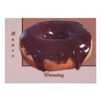 Chocolate Covered Donut 13 Cm X 18 Cm Invitation Card