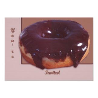 Chocolate Covered Donut 13 Cm X 18 Cm Invitation Card