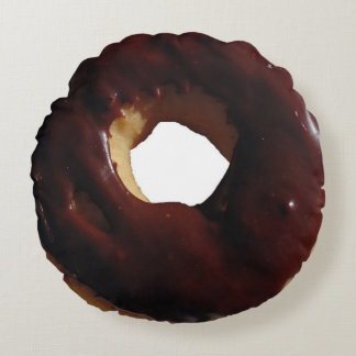 Chocolate covered doughnut pillow
