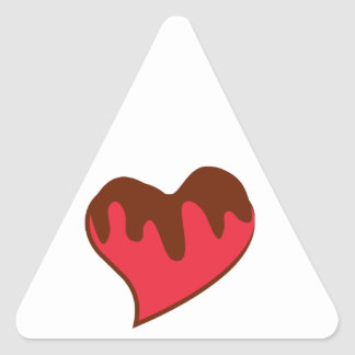 Chocolate Covered Heart Triangle Sticker