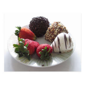 Chocolate covered strawberries postcard