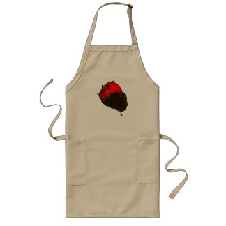 Chocolate-Covered Strawberry Long Apron