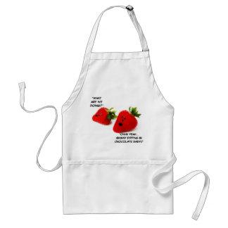 Chocolate Covered Strawberry Joke Standard Apron