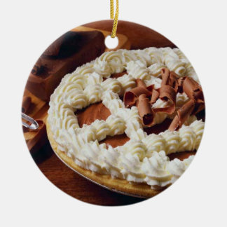 CHOCOLATE CREAM PIE ROUND ORNAMENT