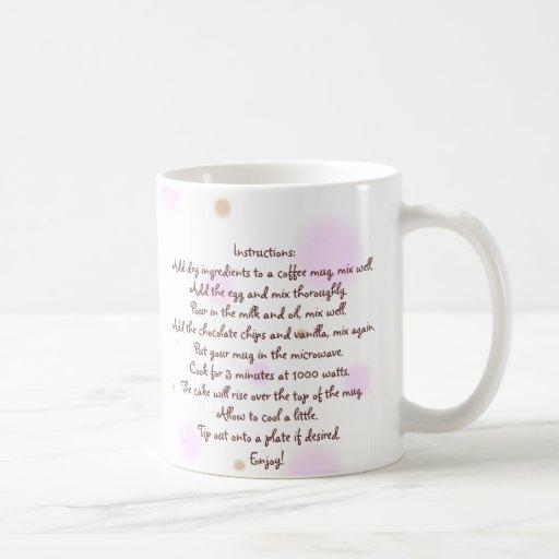 """Chocolate """"Cup Cake"""" in a Mug Recipe"""