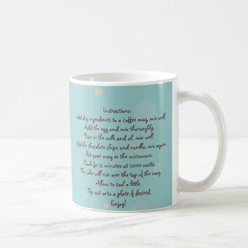"""Chocolate """"Cup Cake"""" in a Mug Recipe at Zazzle"""
