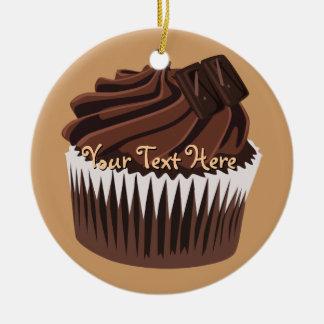 Chocolate Cupcake Christmas Ornament