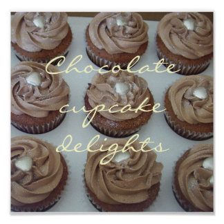 Chocolate cupcake delights poster