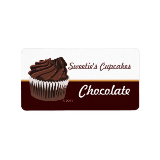 Chocolate Cupcake Labels