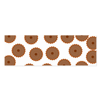 Chocolate Cupcake Pattern Business Card Templates