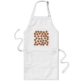 Chocolate Cupcake Pattern. Long Apron
