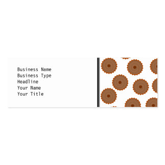 Chocolate Cupcake Pattern. Pack Of Skinny Business Cards