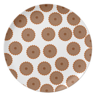 Chocolate Cupcake Pattern. Plate