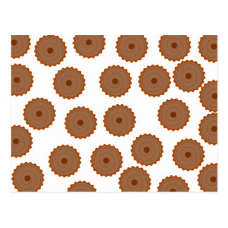 Chocolate Cupcake Pattern. Post Cards
