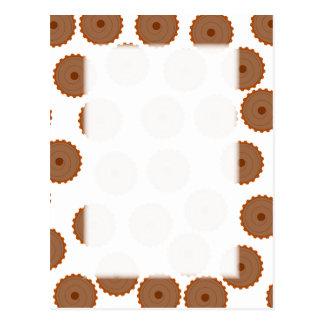 Chocolate Cupcake Pattern. Postcard