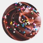 Chocolate Cupcake  Photograph Stickers