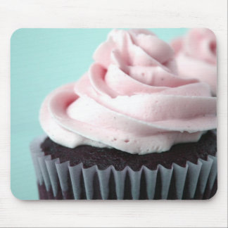 Chocolate Cupcake Pink Vanilla Frosting Mouse Pad