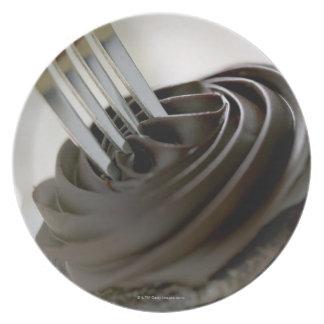 Chocolate cupcake plate