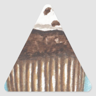 Chocolate Cupcake Triangle Stickers