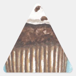 Chocolate Cupcake Triangle Sticker