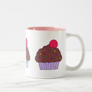 Chocolate CupCake Two-Tone Coffee Mug