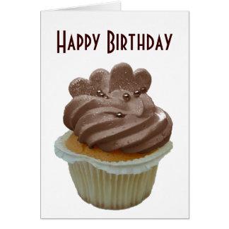 Chocolate Cupcake with Hearts Card