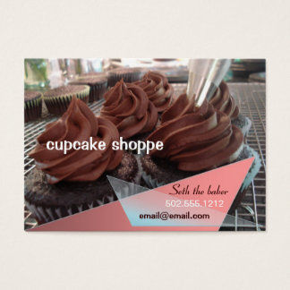 chocolate cupcakes business card