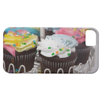 Chocolate cupcakes on a cake stand 2 barely there iPhone 5 case