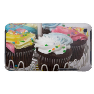 Chocolate cupcakes on a cake stand 2 iPod Case-Mate cases
