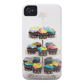 Chocolate cupcakes on a cake stand iPhone 4 cases