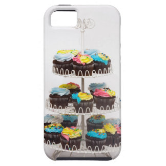 Chocolate cupcakes on a cake stand tough iPhone 5 case