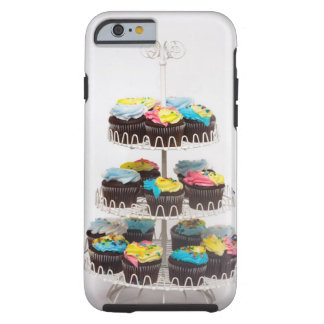 Chocolate cupcakes on a cake stand tough iPhone 6 case