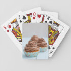 Chocolate cupcakes playing cards