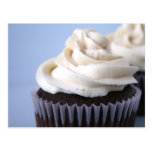 Chocolate Cupcakes Vanilla Frosting Postcard