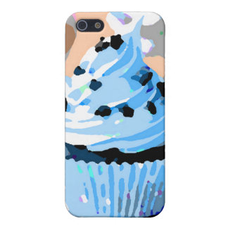 Chocolate Cupcakes with Blue Buttercream iPhone 5 Covers