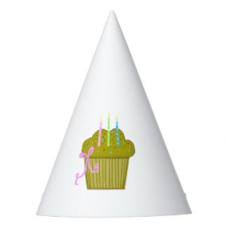 Chocolate Cupcakes With Candles Party Hat
