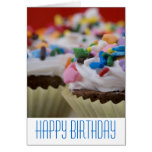 Chocolate Cupcakes with Icing and Sprinkles Greeting Cards