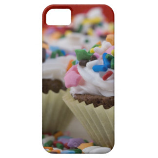 Chocolate cupcakes with icing and sprinkles, iPhone 5 case