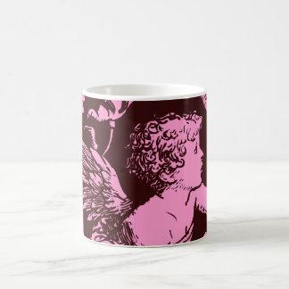 Chocolate cupid with wheat stalk vintage print basic white mug